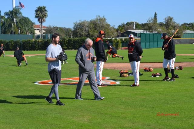 Buck Showalter, Zach Britton, Baltimore Orioles Minicamp
