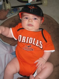 Baby Graham in O's gear
