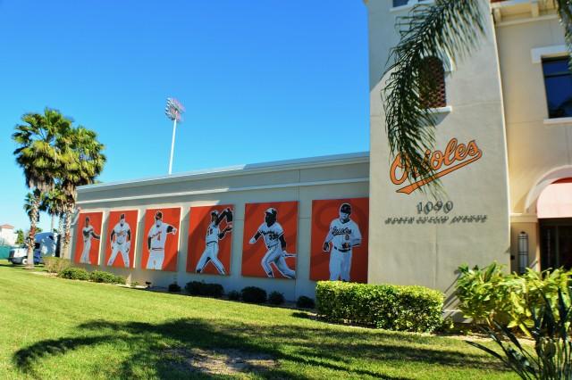 Orioles Legends Images Outside Ed Smith Stadium.JPG