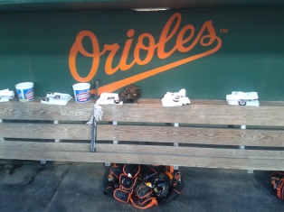 Baltimore Orioles dugout