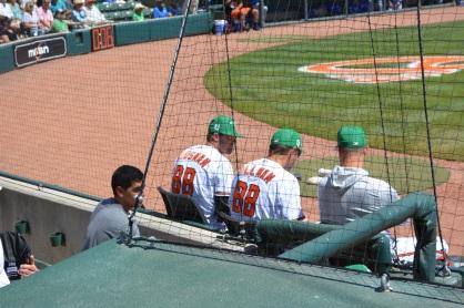 Baltimore Orioles pitchers Kevin Gausman and Chris Tillman