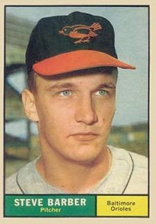 Steve Barber, Baltimore Orioles