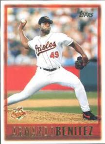 Armando Benitez Baltimore Orioles Baseball Card